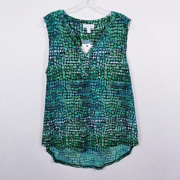 3e003d244e993d Dana Buchman Sleeveless Knit Henley - Size XL -NWT